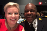 Mental Health Super Hero Alicia with Toronto Police Chief Mark Saunders